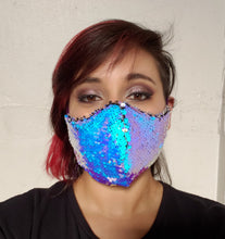 Load image into Gallery viewer, Ultra Colorshift Sequin Face Mask