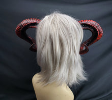 Load image into Gallery viewer, Seductress Horns in Red and Black
