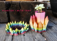 Load image into Gallery viewer, Rainbow Crystal Planter for small Succulent plants- Single