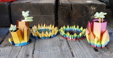 Load image into Gallery viewer, Rainbow Planter for Small Succulent- Double Planter