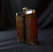 Load image into Gallery viewer, Thor's Hammer Leather Flask