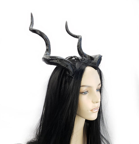 Tall Spiral Costume and Cosplay Horns