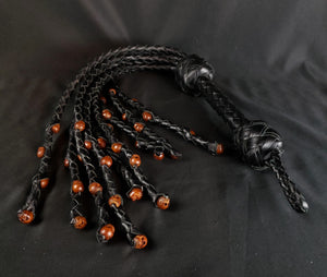 Voodoo Black Skull Cat O Nine Flogger- - In stock