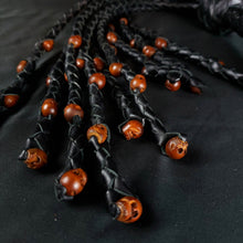 Load image into Gallery viewer, Voodoo Black Skull Cat O Nine Flogger- - In stock