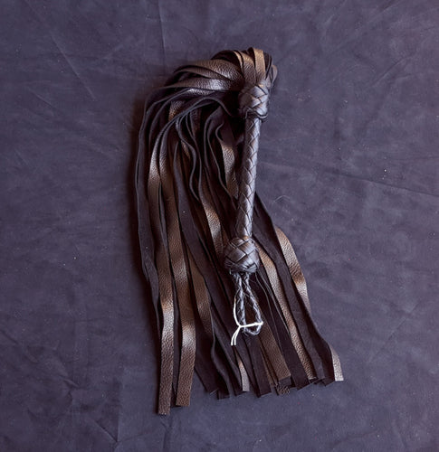 Black Deerskin Floggers- Made to Order