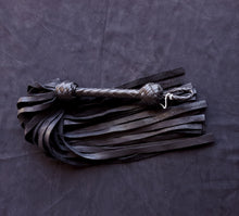 Load image into Gallery viewer, Black Deerskin Floggers- Made to Order