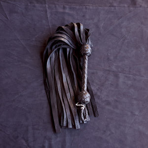 Black Elk Leather BDSM Flogger- Made to Order