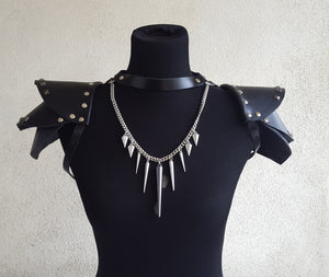 Black Heart Leather Harness and Epaulets