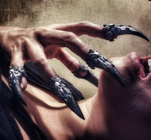 Load image into Gallery viewer, Claw Ring Talons For Sensation Play or Cosplay
