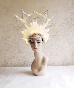 Crystal Queen Crown - Crystal Headdress with Antlers