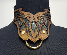 Load image into Gallery viewer, Elven Leather Collar- BDSM Collar