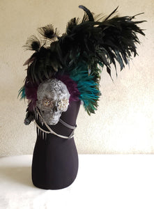 Feather Collar Shoulder Piece with Skull Scales and Shoulders