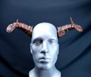 Demon, Dragon, Tiefling horns- Painted and ready to wear