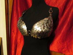 Dragon Scale Armor leather Bra