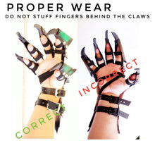 Load image into Gallery viewer, Leather Claw Gauntlets - Pick your Color and Size