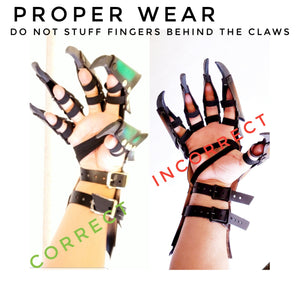 Leather Claw Gauntlets - Pick your Color and Size