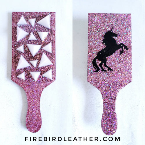 Evil unicorn spanking paddle - Rose Gold - Made to Order