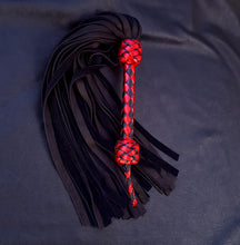 Load image into Gallery viewer, Black and Red Elk Flogger