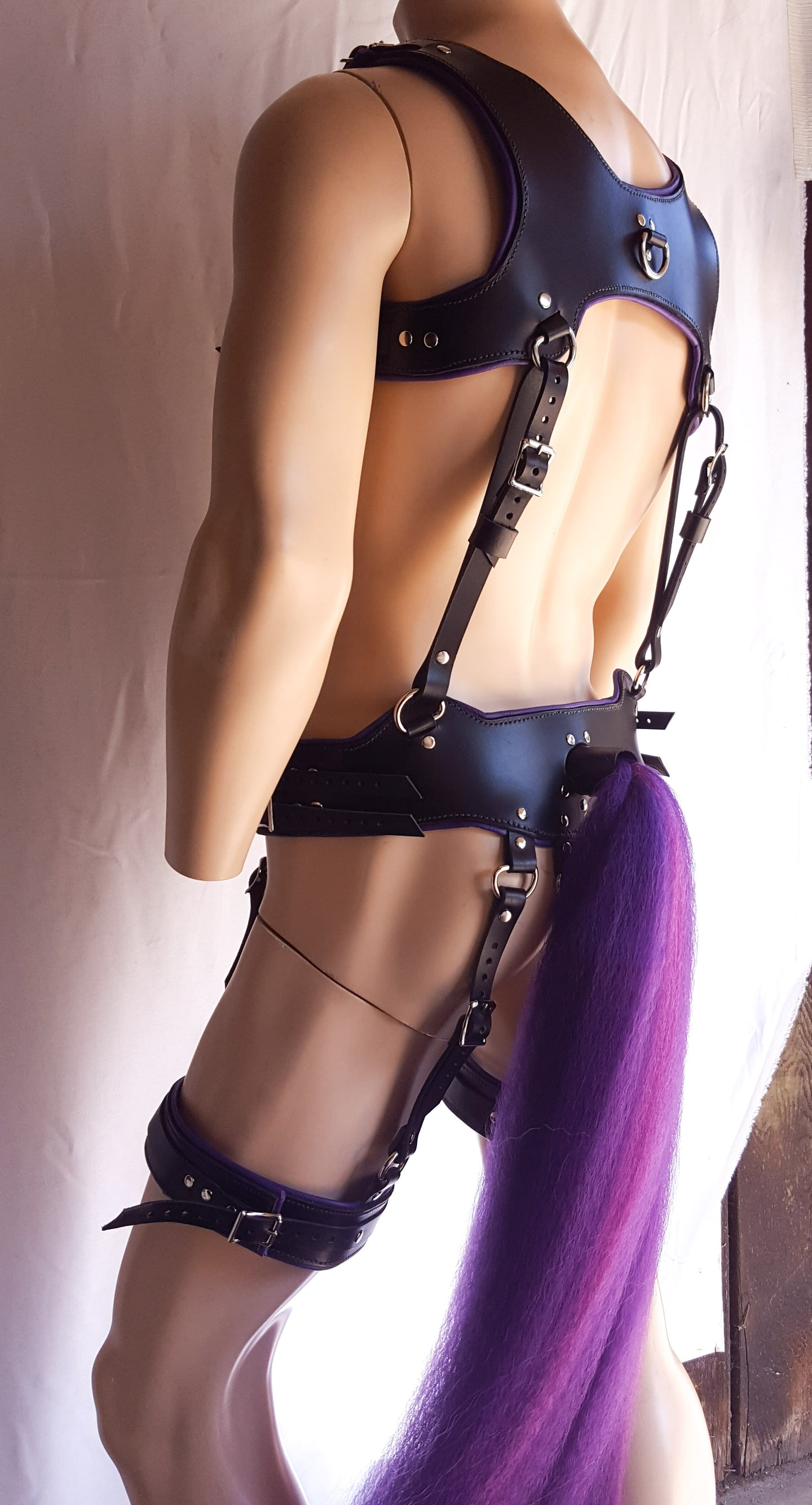 pony play harness and tail