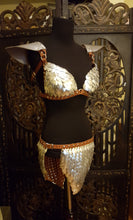 Load image into Gallery viewer, Dragon Scale Armor leather Bra