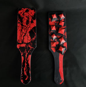 Spiked Paddle in Red and Black