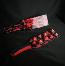 Load image into Gallery viewer, Spiked Paddle in Red and Black