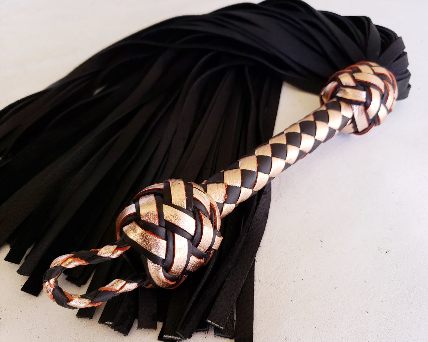Rose Gold Elk Flogger- Made to Order