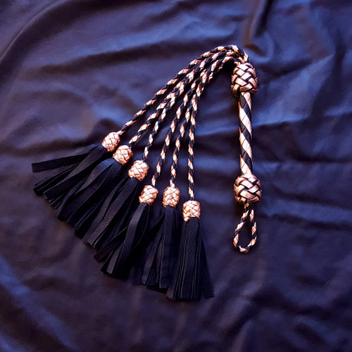 Custom Elk Leather Thumper BDSM Flogger, Pick your colors and tails