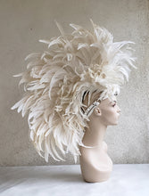 Load image into Gallery viewer, White Feather Mohawk Headdress- Made to Order