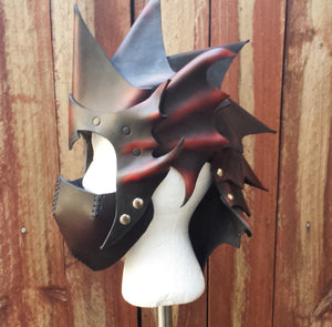 Leather armor helm