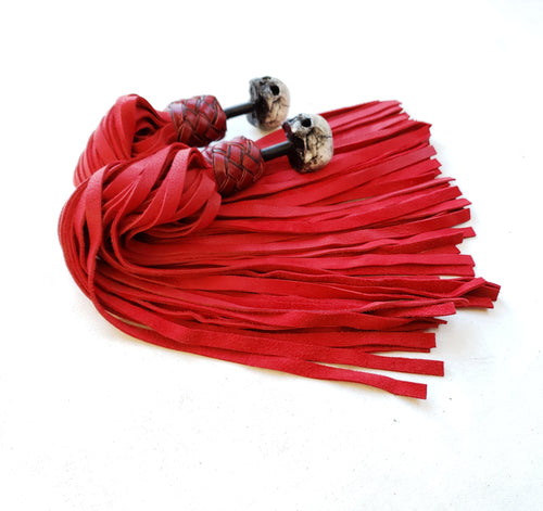 Red Elk Skull Finger Floggers - Made to Order