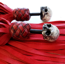 Load image into Gallery viewer, Red Elk Skull Finger Floggers - Made to Order