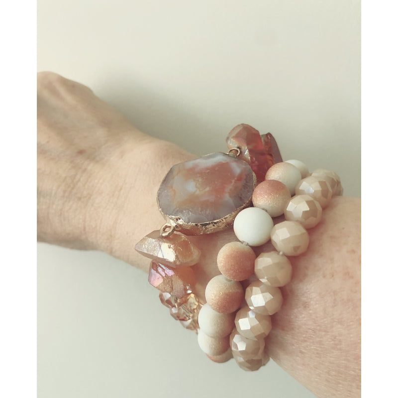 Peach Agate Stack