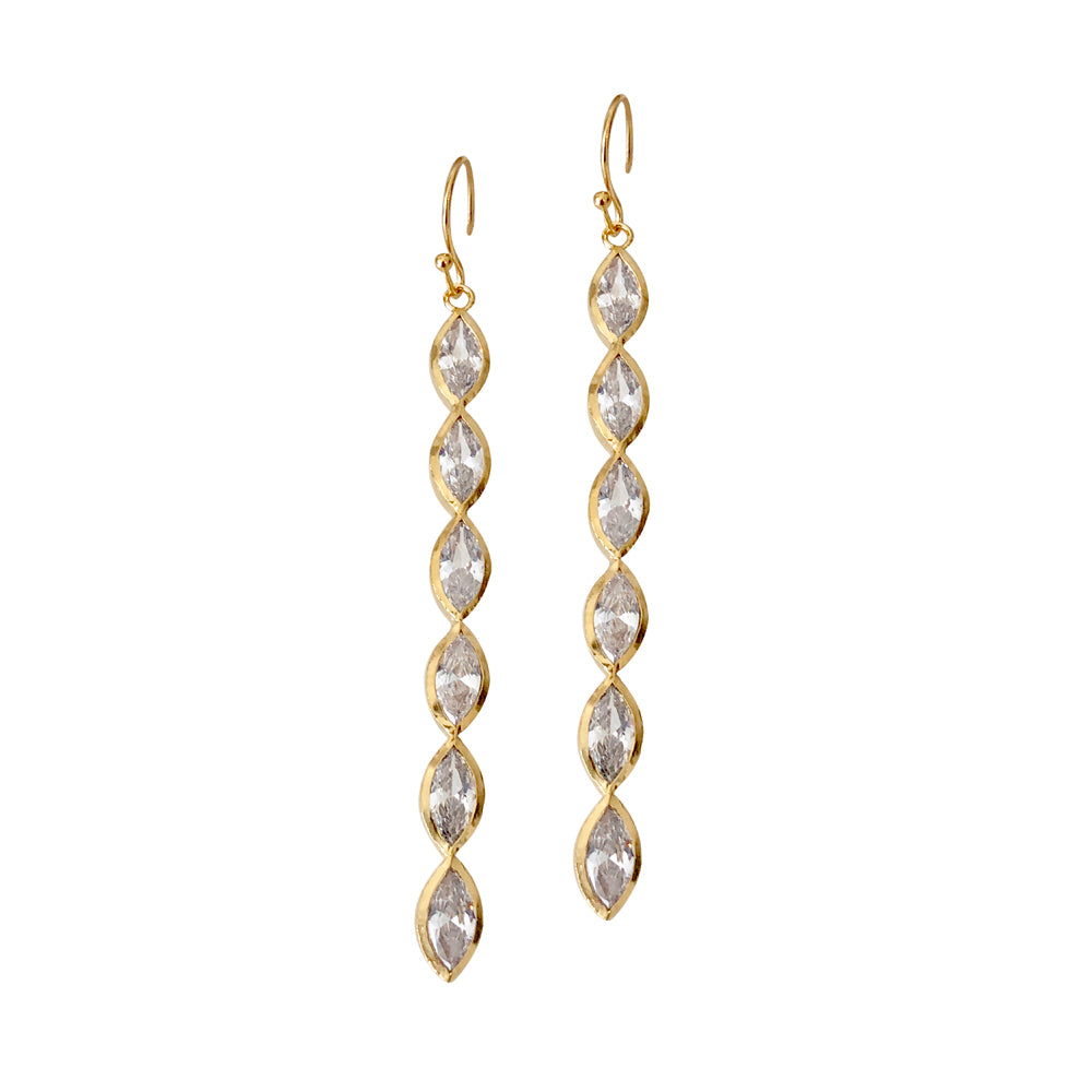 Aurelia 6 Stone Drop Earring