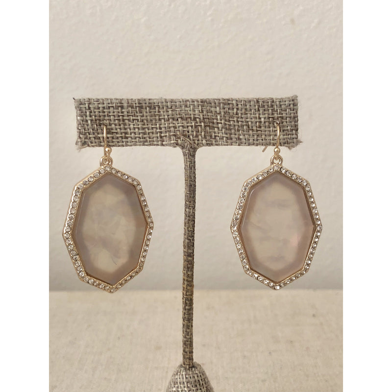 Sample Sale! Octagon Earring-Champagne