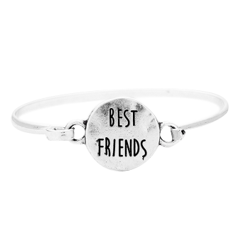 Best Friends Bangle-Silver