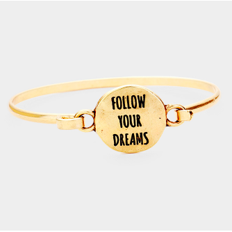 Follow Your Dreams Bangle-Gold