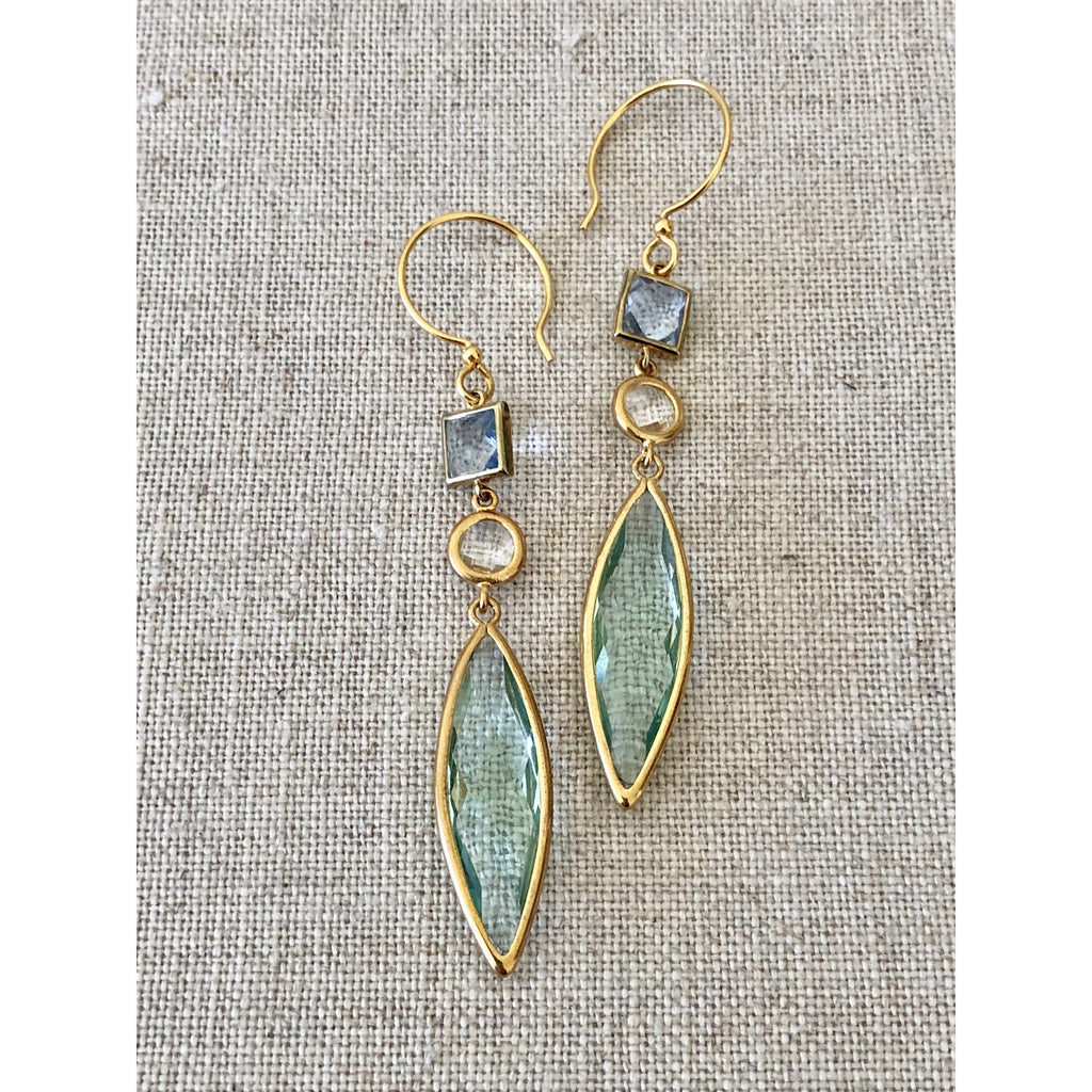 Sample Sale! Sea Jewels Double Drop Earring