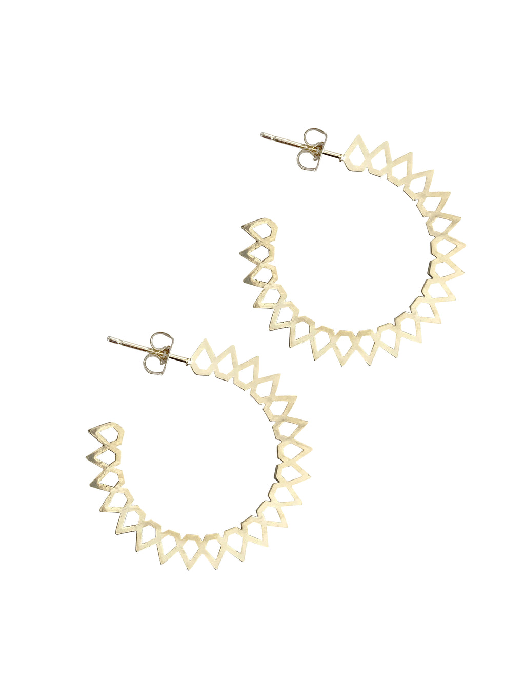 Sample Sale!  Small Gear Spike Hoop
