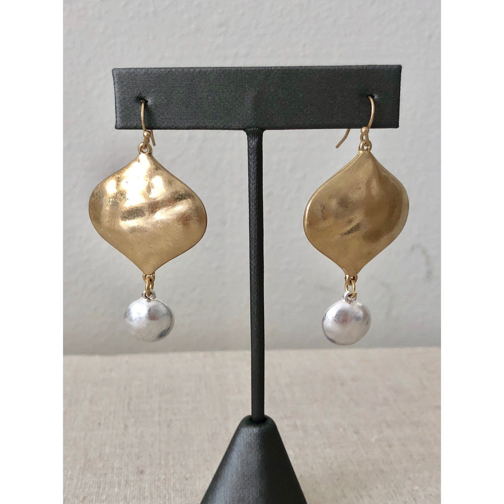 Sample Sale!  Matte Gold Drop Earrings