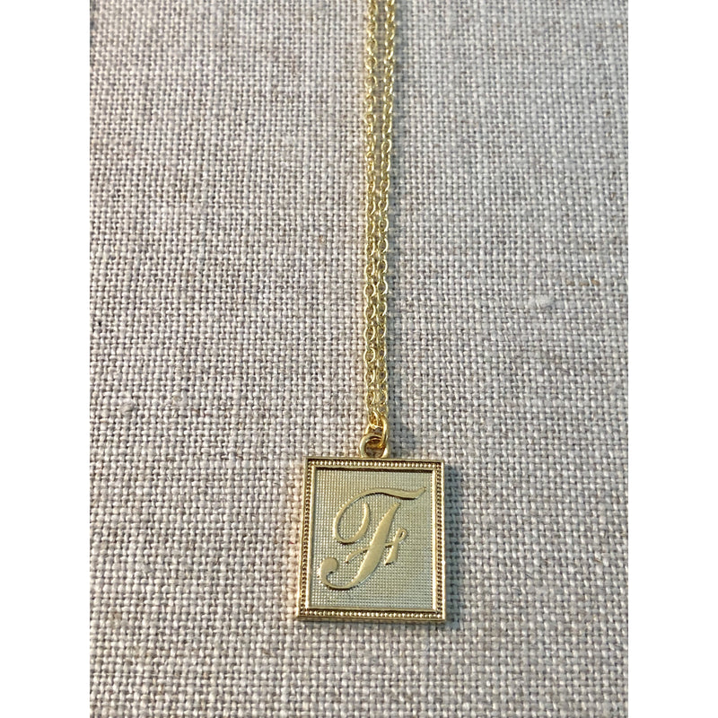 Sample Sale! Portrait Initial Necklace