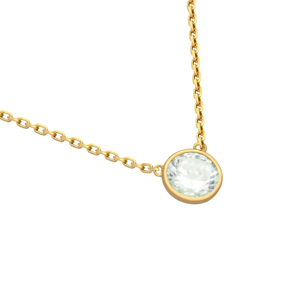 CZ Bezel Rodeo Drive Necklace