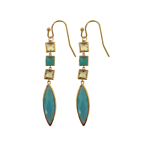 Triple Santorini Drop Earring