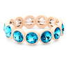 Medium Crystal Bezel Stretch Bracelet