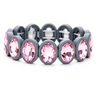 Oval Crystal Bezel Stretch Bracelet