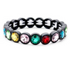 Mini Crystal Bezel Stretch Bracelet