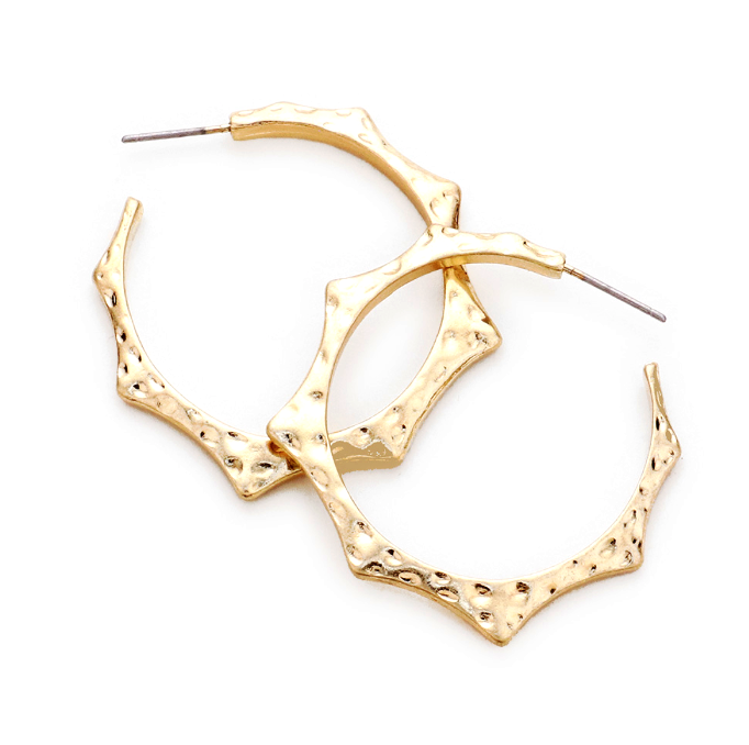 Sample Sale! Hammered Spike Hoops