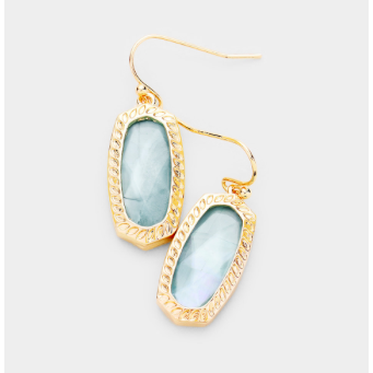 Sample Sale! Teal/Gold Shimmer Earring