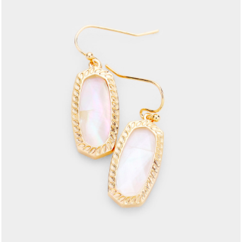 Sample Sale! Mother of Pearl/Gold Shimmer Earring