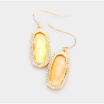 Apricot/Gold Shimmer Earring